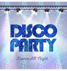 Disco background disco party vector