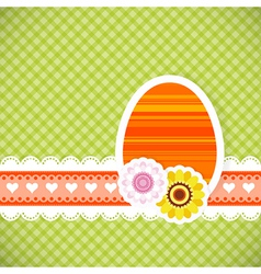 Easter egg from paper Easter card background eps vector image