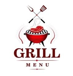 Grill menu design vector image vector image