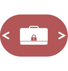 Icon of secured briefcase vector