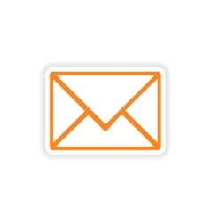 Icon sticker realistic design on paper email vector
