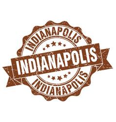 Indianapolis round ribbon seal vector