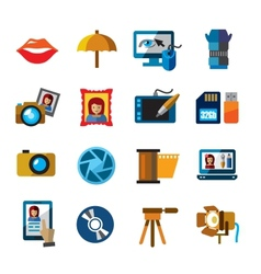photo icons vector image vector image
