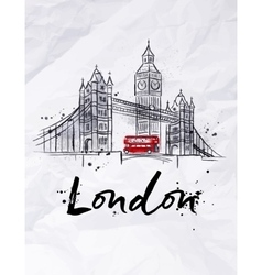 Poster London vector image
