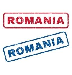 Romania rubber stamps vector