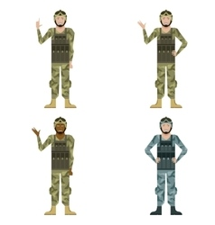 Set of mylitary men vector