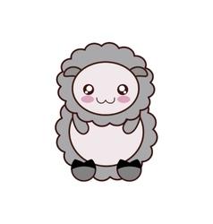 Sheep kawaii cute animal icon vector