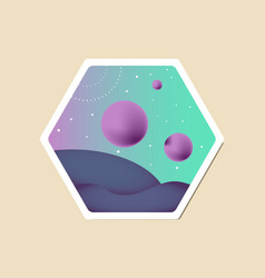 Space flat background vector
