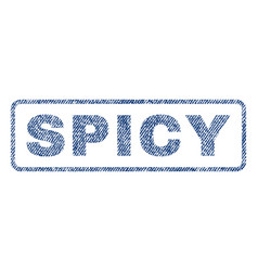 Spicy textile stamp vector