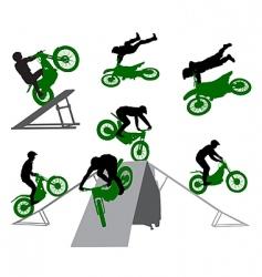 stunt man vector image vector image