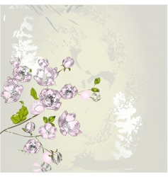 stylized spring background vector image vector image