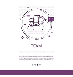 Teamwork management business team banner with copy vector