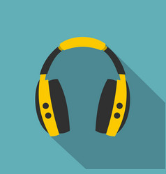 wireless headphones icon flat style vector image vector image