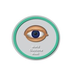 World glaucoma week 6 -12 march eye baner vector