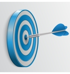 Target with darts 3d icon vector