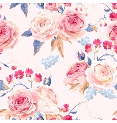 Seamless vintage roses vector image