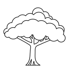 Tree icon outline style vector