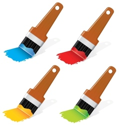 Paint brushes set vector