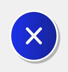 Cross sign   new year bluish vector