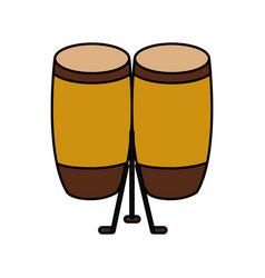 Bongo musical instrument icon vector