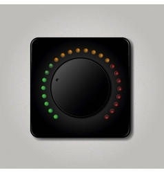 Square volume knob vector