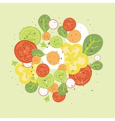 Fresh salad vector