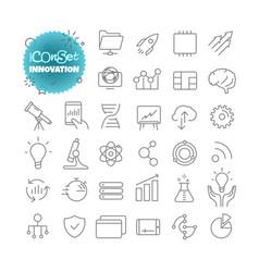 Outline icon set pictogram set innovation vector