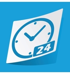24 hours sticker vector