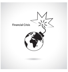 World financial and economic crisis vector