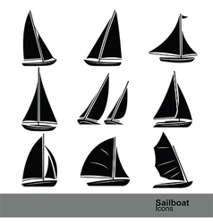 Sailboat vector image