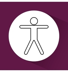 Human pictogram icon vector