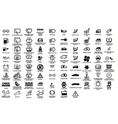 Automotive icon set vector