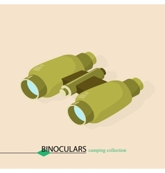Binoculars for approaching objects isometric vector