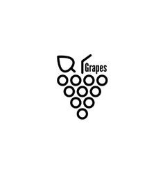 Grapevine leaves icon vector