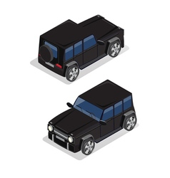 Isometric transportation offroad car isometric car vector