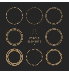 collection of circle frames Chain and vector image