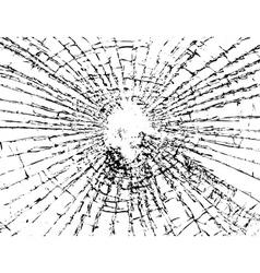 Broken glass grunge texture white black vector
