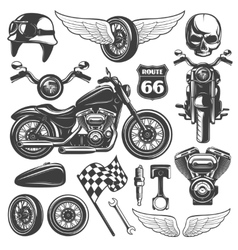 Motorcycle icon set vector