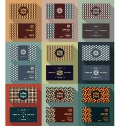 Big set of business card template vintage retro vector image
