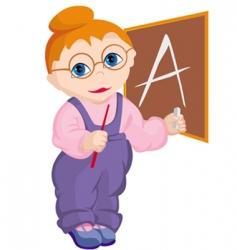 child teacher vector image vector image