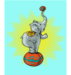 circus elephant cartoon icon vector image vector image