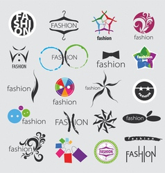Collection of logos for clothing vector