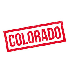 Colorado rubber stamp vector