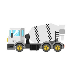 Construction cement mixer truck building concrete vector