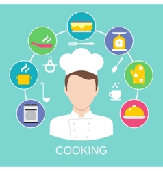 Cooking concept poster print vector