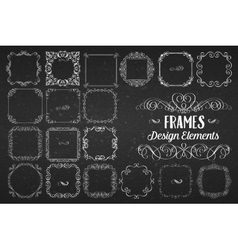 Curls banners and swirls vintage design vector
