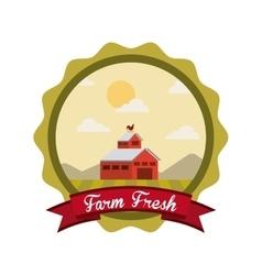 farm fresh emblem icons vector image