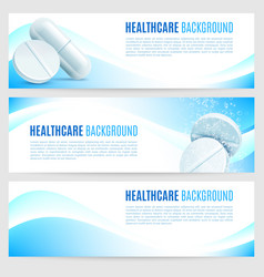 Healthcare and medicine banners vector