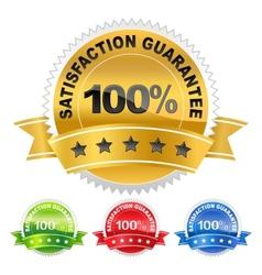 label satisfaction guarantee vector image