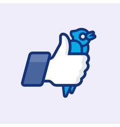 LikeThumbs Up symbol icon vector image